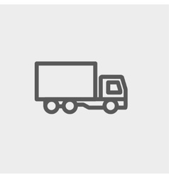 Delivery truck thin line icon vector image