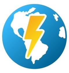 Earth Shock Gradient Icon vector image