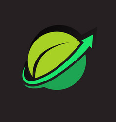 eco business logo vector image