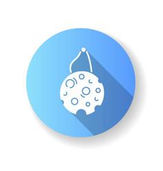 eco sponge blue flat design long shadow glyph icon vector image