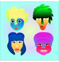 face emotion set vector image