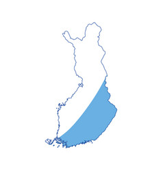 Finland map silhouette vector
