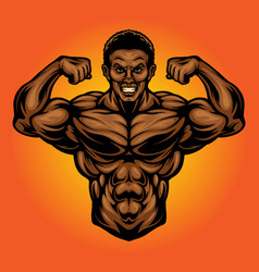 Fitness gym power mascot vector