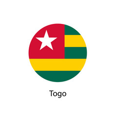 flag of togo vector image
