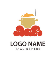 food and restaurant logo design and icon vector image