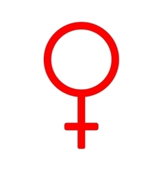 Gender sign mirror of Venus 310 vector image