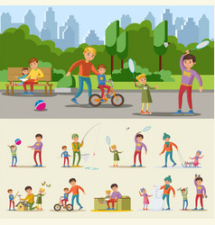 Happy fatherhood concept vector