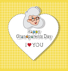 Happy grandparents day greeting card colorful vector