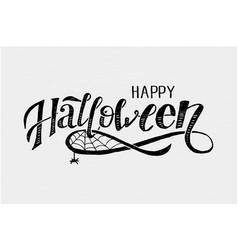 happy halloween lettering calligraphy brush text vector image