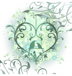 heart decorative vector image