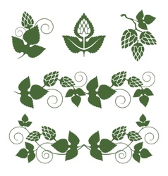 Hop borders and design elements vector