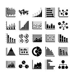 Infographic glyph icons vector