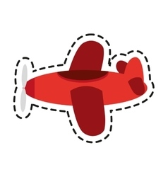 Isolated airplane toy design vector