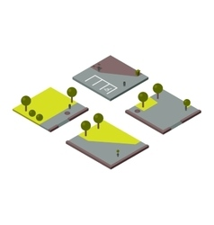 isometric land section vector image