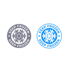 Keep frozen food product package label vector