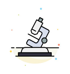 Lab microscope science zoom abstract flat color vector