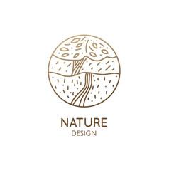 Landscape doodle vector