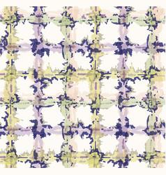 Lilac shibori tie dye broken plaid grid background vector