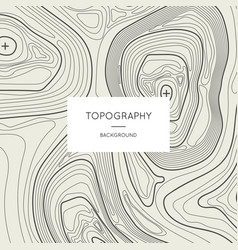 line topography map contour background vector image