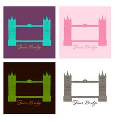 London bridge logo attraction of the capital vector