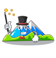 Magician mountain cartoon images are very vector