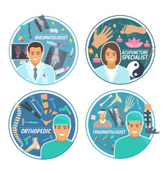 Medical doctor icon for hospital personnel design vector
