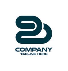 Modern letter bs or sb logo vector