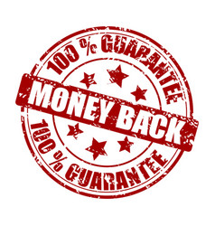 money back guarantee stamp vector image