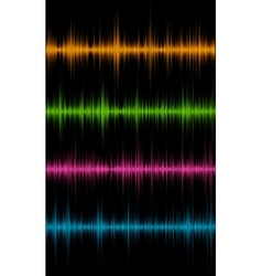 Music sound waves vector