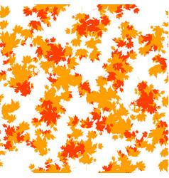 orange autumn leaves seamless vector image