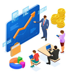 partnership consulting business teamwork vector image