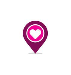 pin love logo icon design vector image