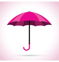 Pink umbrella vector