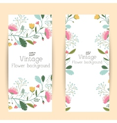 retro flower background concept vector image
