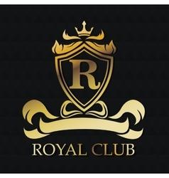 Royal club gold emblem design vector