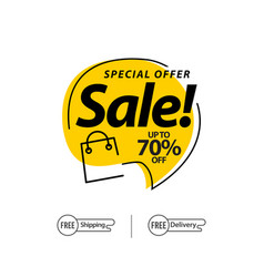 Sale up to 70 special offer template design vector