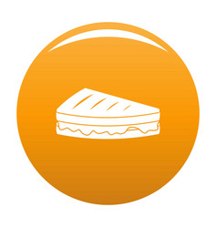 Sandwich icon orange vector