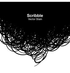 Scribble black background vector image