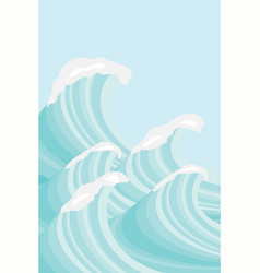 sea waves in sea green shades background image vector image