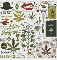 Seamless pattern for marijuana legalization vector