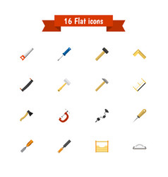 Set of 16 editable instrument flat icons includes vector