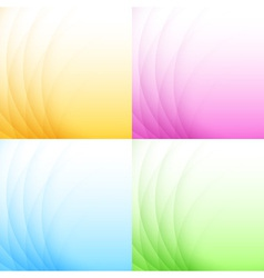 Set of Abstract Colorful Light Backgrounds vector