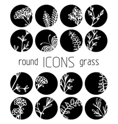 Set of round flat icons vector