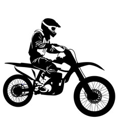 Silhouette a motorcyclist on a sports bike vector