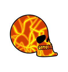 Skull texture mars head skeleton is red planet vector