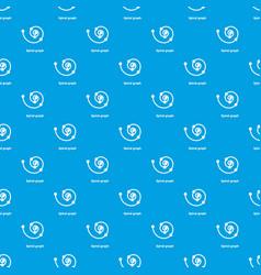 Spiral graph pattern seamless blue vector