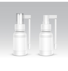 Spray Bottle White Plastic Packaging Container Set vector image