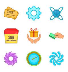 Subscriber interface icons set cartoon style vector