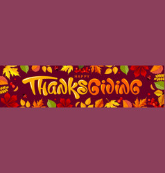thanksgiving greeting banner template vector image