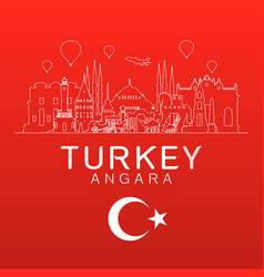 turkey travel landmarks vector image